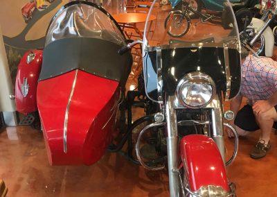 1950 Harley Davidson Hydra Glide with sidecar